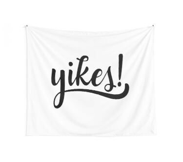 yikes! Wall Tapestry