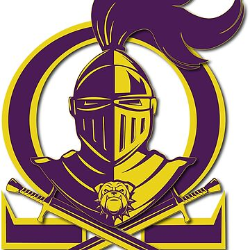 Omega Purple Gold Que Psi Phi Knight Shield by AlienatedOpus