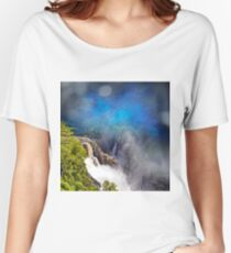 Abstract view of the Beautiful Barron Falls Women's Relaxed Fit T-Shirt