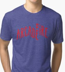 """Red Logo"" of Arcade Fire Tri-blend T-Shirt"
