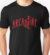 """Rotes Logo"" von Arcade Fire Slim Fit T-Shirt"