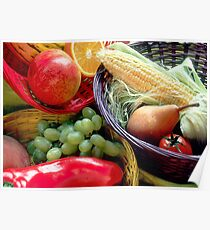 Healthy Fruit and Vegetables Poster