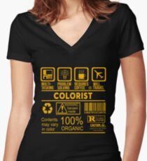 COLORIST - NICE DESIGN 2017 Women's Fitted V-Neck T-Shirt