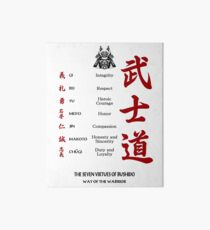 The Seven Virtues Of Bushido Art Board