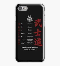 The Seven Virtues Of Bushido iPhone Case/Skin