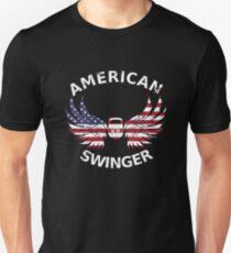 American Swinger Kettlebell Fitness Workout Gym T-Shirt Tee T-Shirt