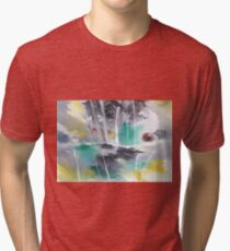 Grey n Colorful Tri-blend T-Shirt