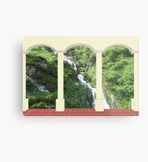 Waterfall under Arch Metal Print