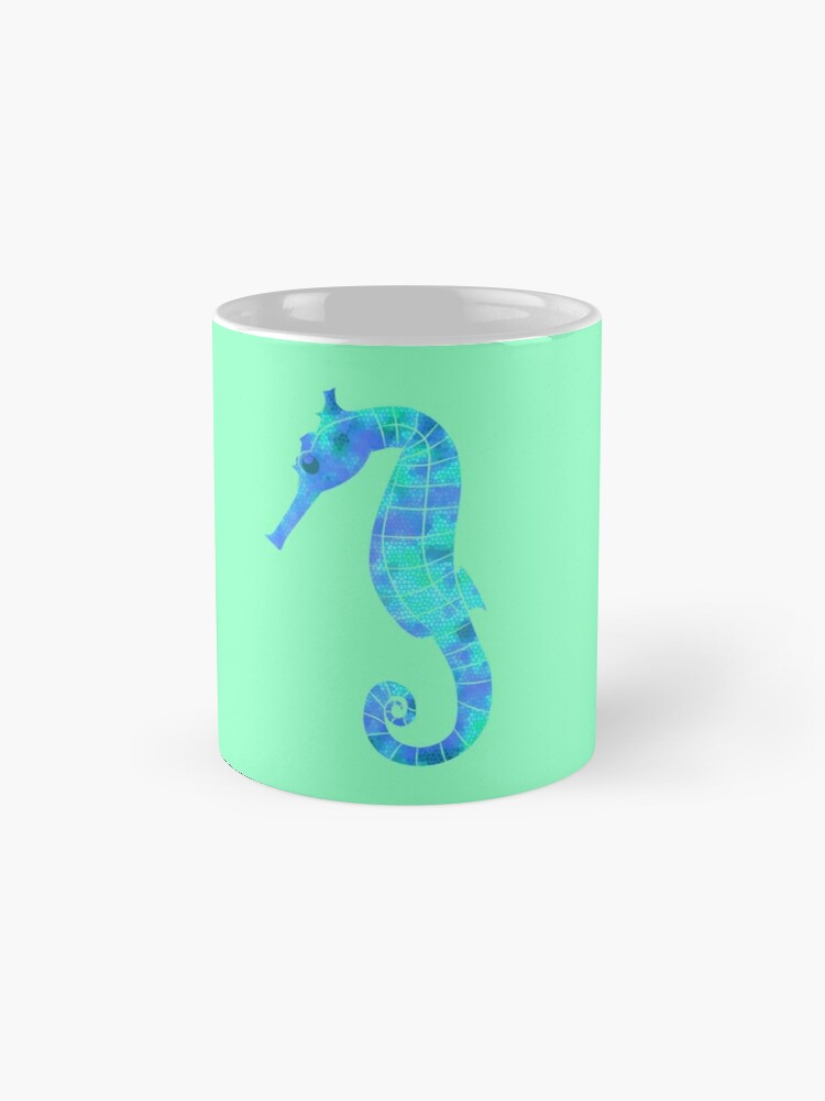 Vista alternativa de Taza Stained Glass Seahorse