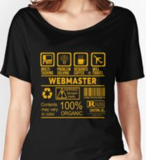 WEBMASTER - NICE DESIGN 2017 Women's Relaxed Fit T-Shirt