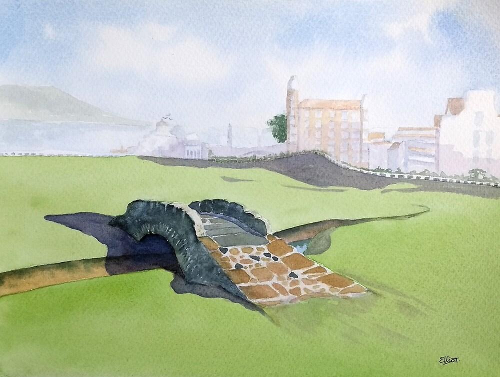 The Old Stone Bridge by Pat  Elliott
