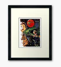 Family dream of a new planet, science fiction movie, poster Framed Print