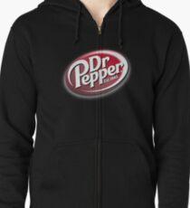 Dr Pepper Merchandise Zipped Hoodie