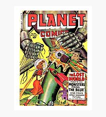Lost world, monsters, sci-fi comics, cover, poster Photographic Print