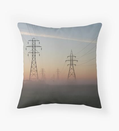 Electric Dawn Throw Pillow