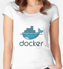 Docker Logo Merchandise Women's Fitted Scoop T-Shirt