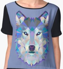 Wolf Animals Gift Women's Chiffon Top