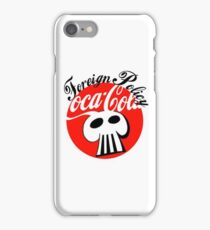 coke logo with foreign policy  iPhone Case/Skin