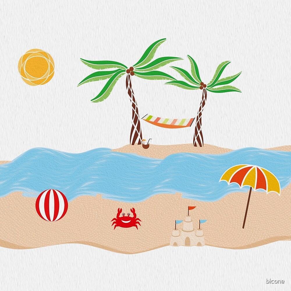 Summer Beach Fun Illustration by bicone