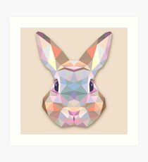 Rabbit Hare Animals Gift Art Print