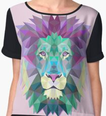 Lion Animals Gift Women's Chiffon Top