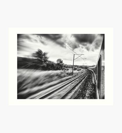 street photo BY TRAIN #street #streetphoto Art Print