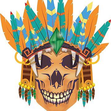Skull native king by caitdesign