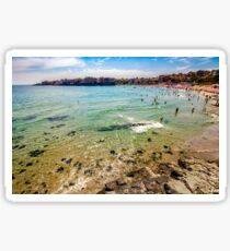 people at the sea beach of Sozopol Sticker