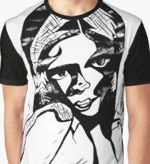 Peace in Grey Scale Graphic T-Shirt