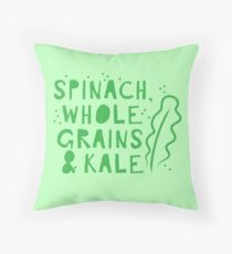 Spinach whole grains and kale Throw Pillow