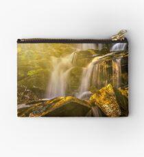 beautiful waterfall in sun rays Studio Pouch