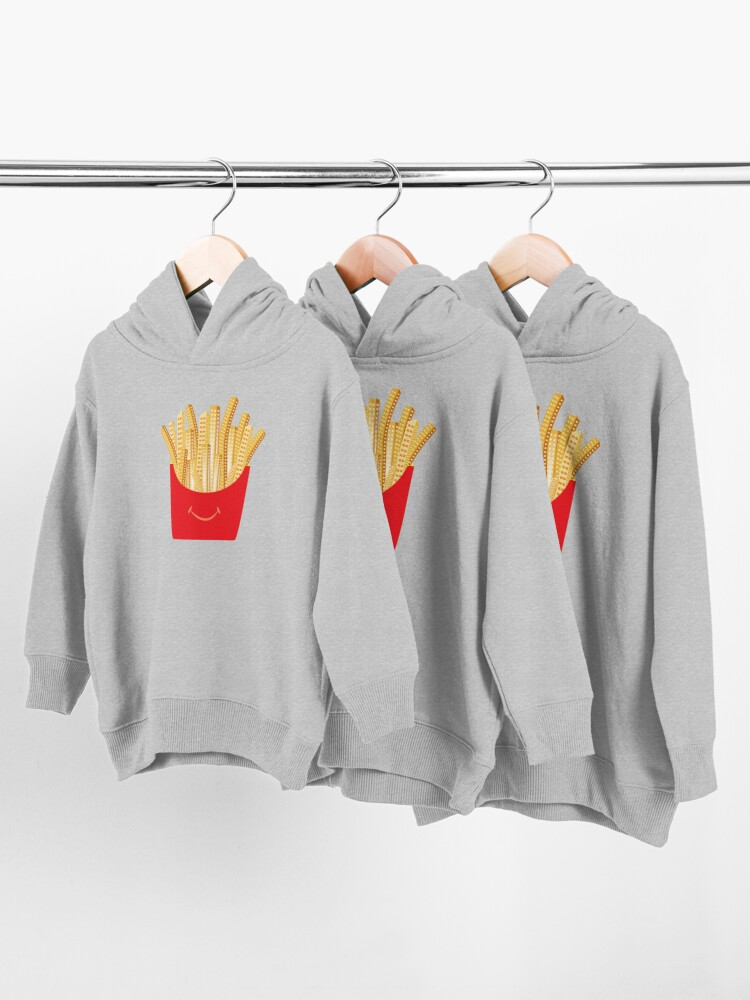 Alternate view of French Fries City Toddler Pullover Hoodie