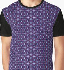 Burgundy Illuminated Stars Graphic T-Shirt