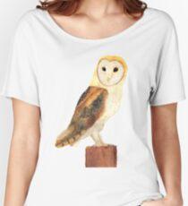 Watercolour Barn Owl Women's Relaxed Fit T-Shirt