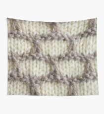 Cream Honeycomb Knit Wall Tapestry