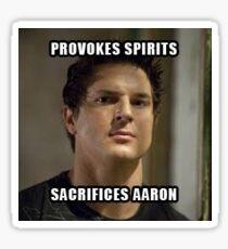 Sacrifice Aaron Sticker