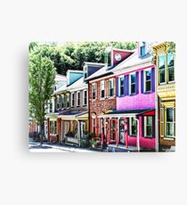 Jim Thorpe PA - Colorful Street Canvas Print