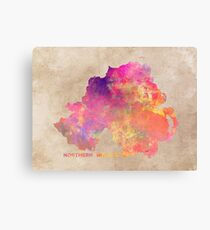Northern Ireland #map #ireland Canvas Print