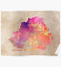 Northern Ireland #map #ireland Poster