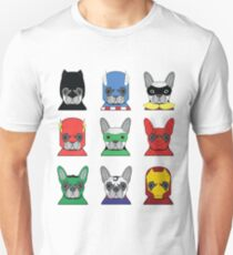 Funny Cute French Bulldog Heroes T Shirt Unisex T-Shirt