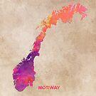 Norway #map #norway #norwaymap by JBJart