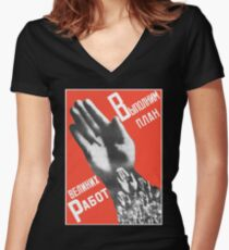 Gustav Klutsis Everyone must vote in the Election constructivist constructivism poster Women's Fitted V-Neck T-Shirt