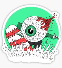 Snowboard Eyeball Sticker