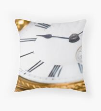 Antique pocket watch Throw Pillow