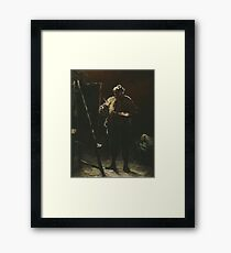 The Painter at his Easel 1870 Honoré Daumier Framed Print