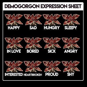 Demogorgon - Expression Sheet by LadyLarousse
