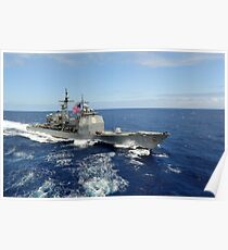 The guided-missile cruiser USS Princeton. Poster