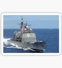 The guided-missile cruiser USS Princeton. Sticker