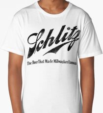 Schlitz - The Beer that Made Milwaukee Famous - weathered look Long T-Shirt