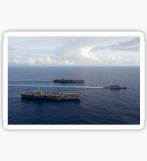 USS George Washington, USS John C. Stennis, and USS Mobile Bay. Sticker
